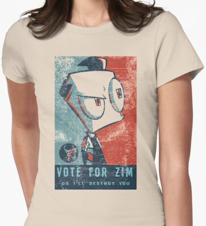 Vote For Zim Womens Fitted T-Shirt