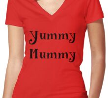 yummi mummy funny quote Women's Fitted V-Neck T-Shirt