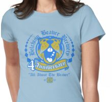 Belching Beaver 4th Anniversary Brewery Womens Fitted T-Shirt