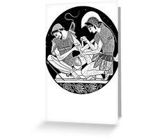 Achilles Patroclus Greeting Card