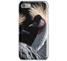 crowned cranes iPhone Case/Skin