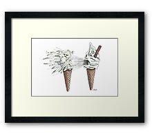 Ice Cream Your Head Off! Framed Print
