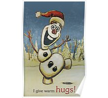 Olaf from Disney Frozen Gives Warm Christmas Hugs Poster