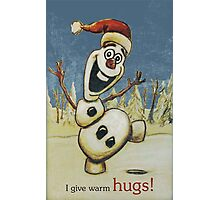 Olaf from Disney Frozen Gives Warm Christmas Hugs Photographic Print