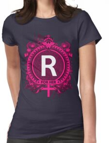 FOR HER - R Womens Fitted T-Shirt