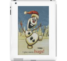 Olaf from Disney Frozen Gives Warm Christmas Hugs iPad Case/Skin