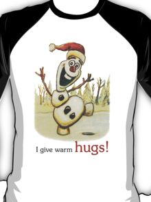 Olaf from Disney Frozen Gives Warm Christmas Hugs T-Shirt
