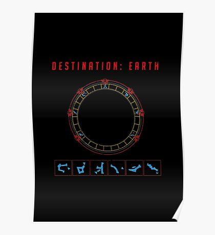 Destination Earth chevron symbols Poster