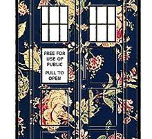 Floral TARDIS by peerrrrii