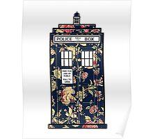 Floral TARDIS Poster