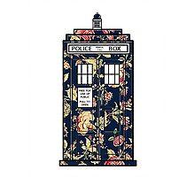 Floral TARDIS Photographic Print