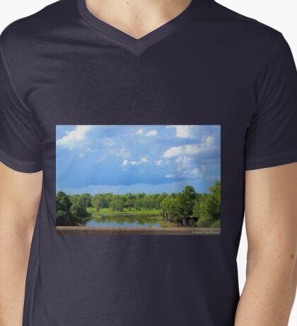 Louisiana Swamp, befor the Storm Mens V-Neck T-Shirt