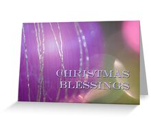 Christmas Blessings bauble design Greeting Card