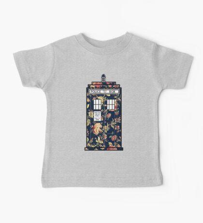 Floral TARDIS Baby Tee