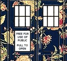 Floral TARDIS Sticker