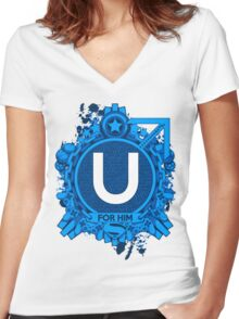 FOR HIM - U Women's Fitted V-Neck T-Shirt