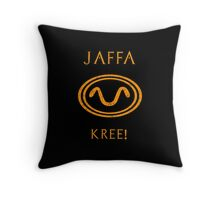 Jaffa warrior symbol snake Throw Pillow
