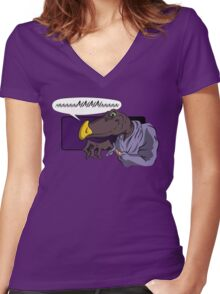 QUIET YOU WHIMPERING WORM! Women's Fitted V-Neck T-Shirt