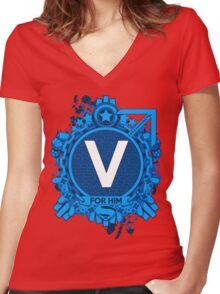 FOR HIM - V Women's Fitted V-Neck T-Shirt