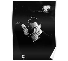 Gomez and Morticia Addams Poster