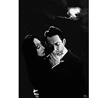 Gomez and Morticia Addams Photographic Print