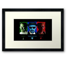 The Rise and Fall of Walter White Framed Print