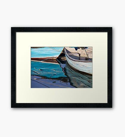 Blue Boats Framed Print
