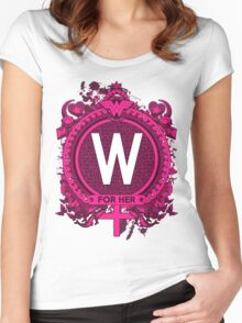 FOR HER - W Women's Fitted Scoop T-Shirt