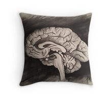 Sagittal (Black and White) Throw Pillow