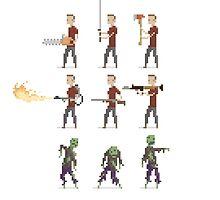 Zombie Apocalypse Pixel Art by obinsun