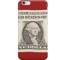 American One Dollar Bill iPhone Case/Skin
