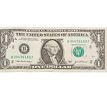 American One Dollar Bill by KWJphotoart
