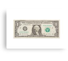 American One Dollar Bill Canvas Print