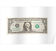 American One Dollar Bill Poster