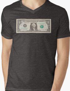 American One Dollar Bill Mens V-Neck T-Shirt