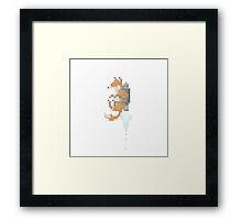 Fox Jetpack Pixel Art Framed Print