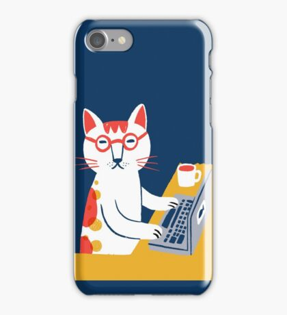 Geek cat iPhone Case/Skin