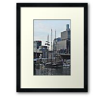 """Oosterschelde"" Departing Cockle Bay, Sydney, Australia 2013 Framed Print"