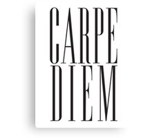 Carpe Diem Black Canvas Print