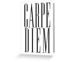 Carpe Diem Black Greeting Card