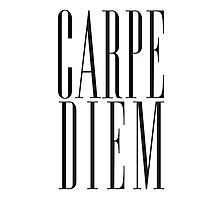 Carpe Diem Black Photographic Print