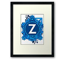 FOR HIM - Z Framed Print