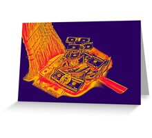 Broom Sweeping Up American Currency Pop Art Greeting Card