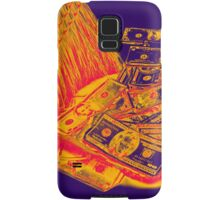 Broom Sweeping Up American Currency Pop Art Samsung Galaxy Case/Skin