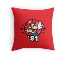 Video Game Heroes - Mario (1981) Throw Pillow