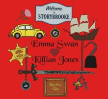 Captain Swan Comic Icons Square Design Kids Tee