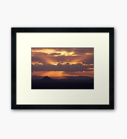 Sunbeam Sundown Framed Print