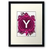 FOR HER - Y Framed Print