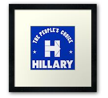 Hillary Peoples Choice Framed Print