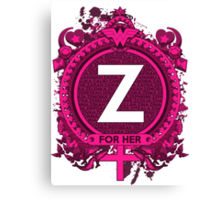 FOR HER - Z Canvas Print